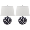 Safavieh Polka Dot Cirle Table Lamp, Navy / White