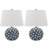 Safavieh Polka Dot Cirle Table Lamp, Blue / White