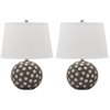 Safavieh Polka Dot Cirle Table Lamp, Grey / White