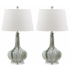 Lucerne Faux Marble Lamp, Green