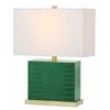 Delia Faux Crocodile Table Lamp, Dark Green