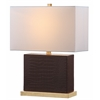Safavieh Delia Faux Crocodile Table Lamp, Brown