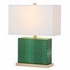 Safavieh Delia Faux Snakeskin Table Lamp, Dark Green