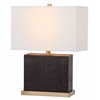 Delia Faux Snakeskin Table Lamp, Brown