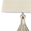 Safavieh Elli Champagne Gourd Lamp (Single), White Linen Hard Back