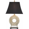 Gabriella Circle Lamp (Single), Black Satin