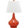 Amy Gourd Glass Lamp (Single), Blood Orange