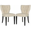 Safavieh Kendi Tufted Side Chair W/ Silver Nail Heads, Wheat
