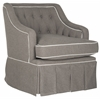 Safavieh Truitt Swivel Club Chair, Grey / White
