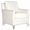 Hollywood Glam Acrylic White Club Chair, White / Clear