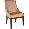 Velvet Sloping Arm Chair, Mink Brown