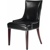 Becca Leather Dining Chair, Black