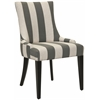 Becca Fabric Dining Chair, Grey And Bone Stripe