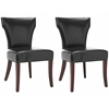 Ryan Leather Side Chair (Set Of 2), Black