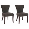 Ryan Fabric Side Chair W/ Nickel Nail Heads (Set Of 2), Bark