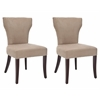 Ryan Fabric Side Chair W/ Nickel Nail Heads (Set Of 2), Wheat