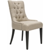 Amanda Tufted Chair W/ Nickel Nail Heads, Antique Gold