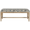 Safavieh Zambia Bench, Blue Pattern