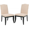 Safavieh Wayne Side Chair W/ Nickel Nail Heads (Set Of 2), True Taupe