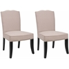 Safavieh Terrie Side Chair  W/ Nickel Nail Heads(Set Of 2), Taupe