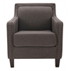 Safavieh Charles George Arm Chair, Charcoal Brown