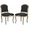 Safavieh Carissa Side Chair (Set Of 2), Black