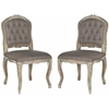 Safavieh Carissa Side Chair (Set Of 2), Chinchilla Brown