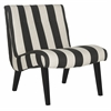 Mandell Chair, Black / White Stripe