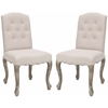 Safavieh Vicky Side Chair (Set Of 2), Taupe
