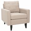 Mid Century Modern Caleb Club Chair, Taupe