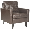 Safavieh Mid Century Modern Caleb Club Chair, Antique Brown