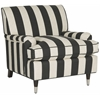 Chloe Club Chair, Black & White