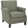 Safavieh Easton Club Chair - Brass Nail Heads, Sea Mist