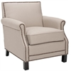Easton Club Chair - Brass Nail Heads, Taupe