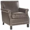 Easton Club Chair - Silver Nail Heads, Antique Brown
