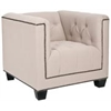 Bentley Club Chair - Black Nail Heads, Taupe