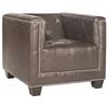 Safavieh Bentley Club Chair - Silver Nail Heads, Antique Brown