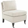 Randy Slipper Chair, Flax Beige Pinstripe