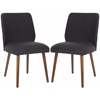 Safavieh Ethel Dining Chair (Set Of 2), Dark Taupe