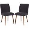 Safavieh Ethel Dining Chair (Set Of 2), Dark Taupe