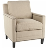 Safavieh Buckler Club Chair - Silver Nail Heads, Wheat Beige