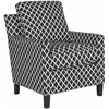 Safavieh Buckler Club Chair - Silver Nail Heads, Black / White