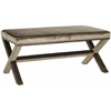 Safavieh Melanie Extended Bench - Brass Nail Heads, Antique Sage