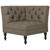 Jack Tufted Corner Chair, Olive