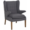 Safavieh Gomer Arm Chair, Steel Gray