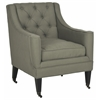 Sherman Tufted Arm Chair, Sea Mist
