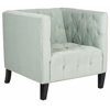 Glen Tufted Club Chair, Light Blue