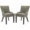 Lotus Kd Side Chair (Set Of 2) - Silver Nail Heads, Sea Mist