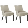 Safavieh Lotus Kd Side Chair (Set Of 2) - Silver Nail Heads, Antique Gold