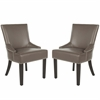 Safavieh Lotus Kd Side Chair (Set Of 2) - Silver Nail Heads, Clay